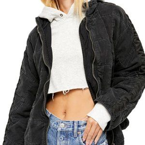 Free People Quilted Dolman Knit Jacket NWT L
